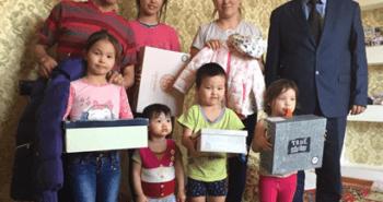 Благотворительная  акция  помощи многодетным  семьям  Атырауской области.